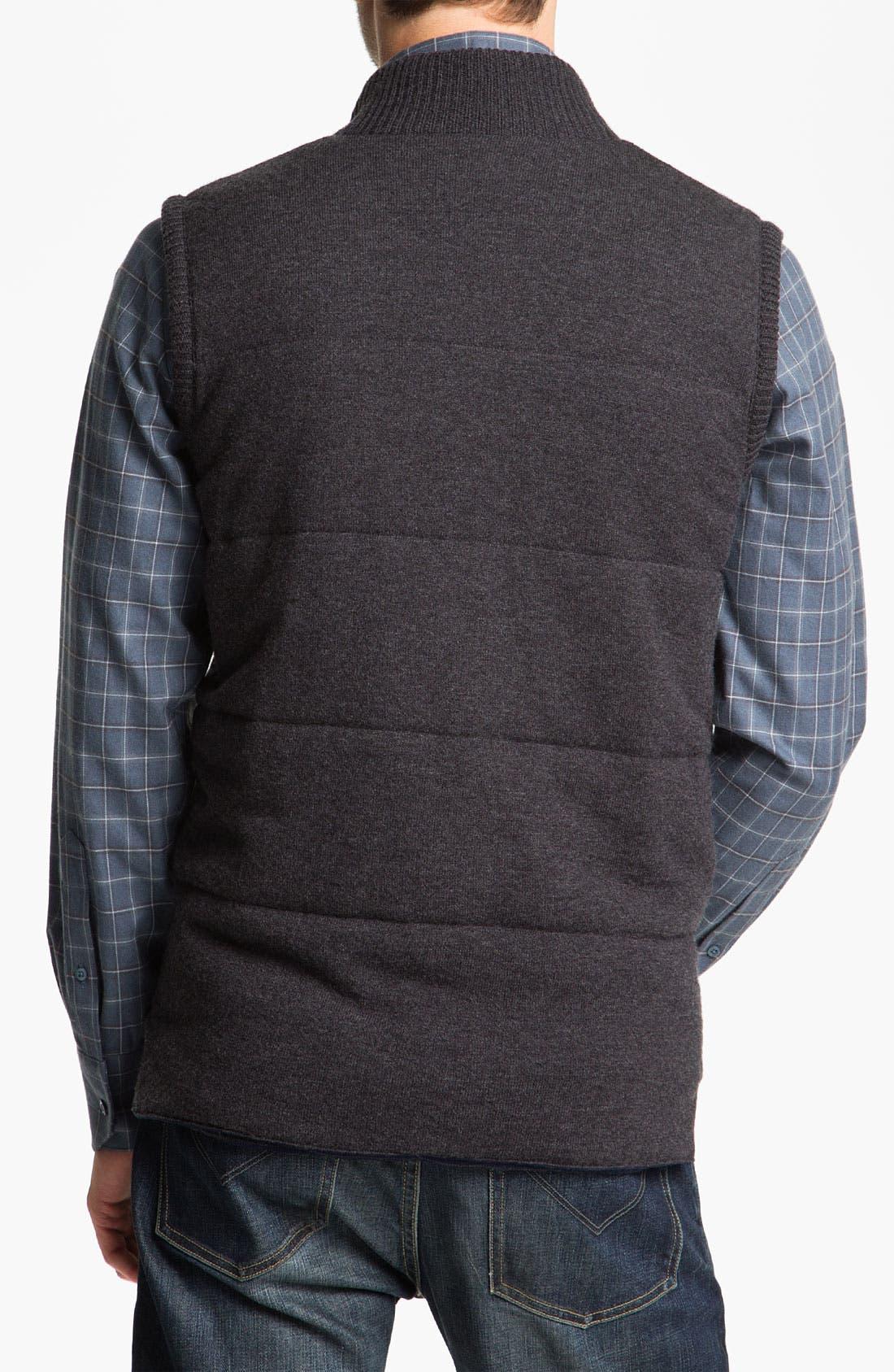 Alternate Image 2  - Façonnable Wool & Cashmere Quilted Vest