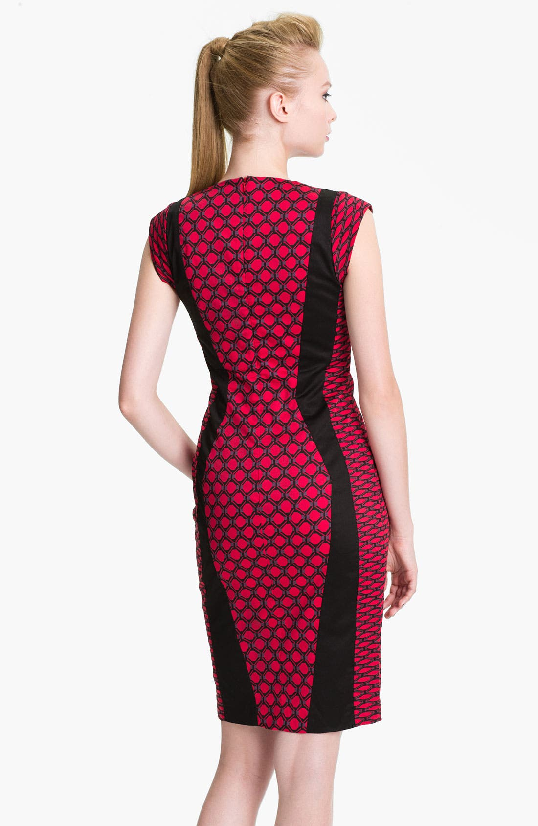 Alternate Image 2  - French Connection 'Geraldine' Printed Cotton Sheath Dress