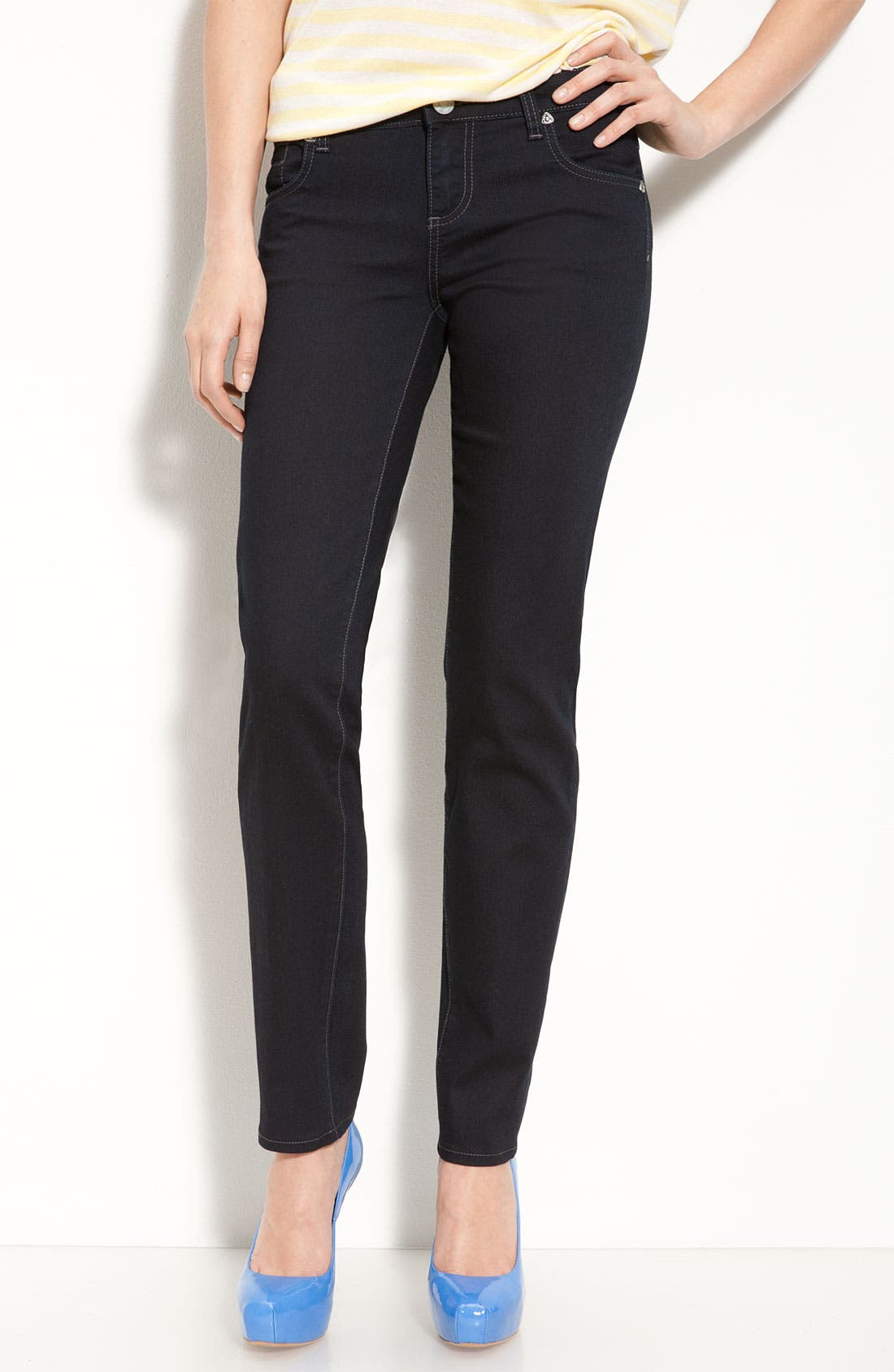 Alternate Image 1 Selected - KUT from the Kloth 'Diana' Skinny Jeans (Delight Wash) (Online Only)