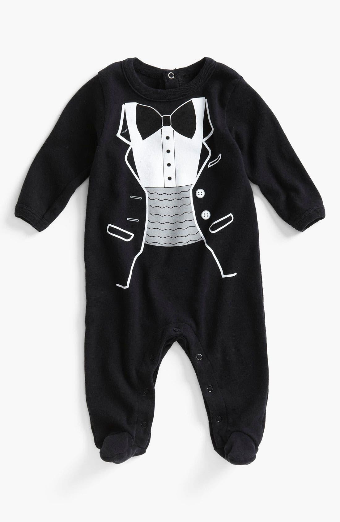 Main Image - Sara Kety Baby & Kids 'Tuxedo' Footie (Infant)