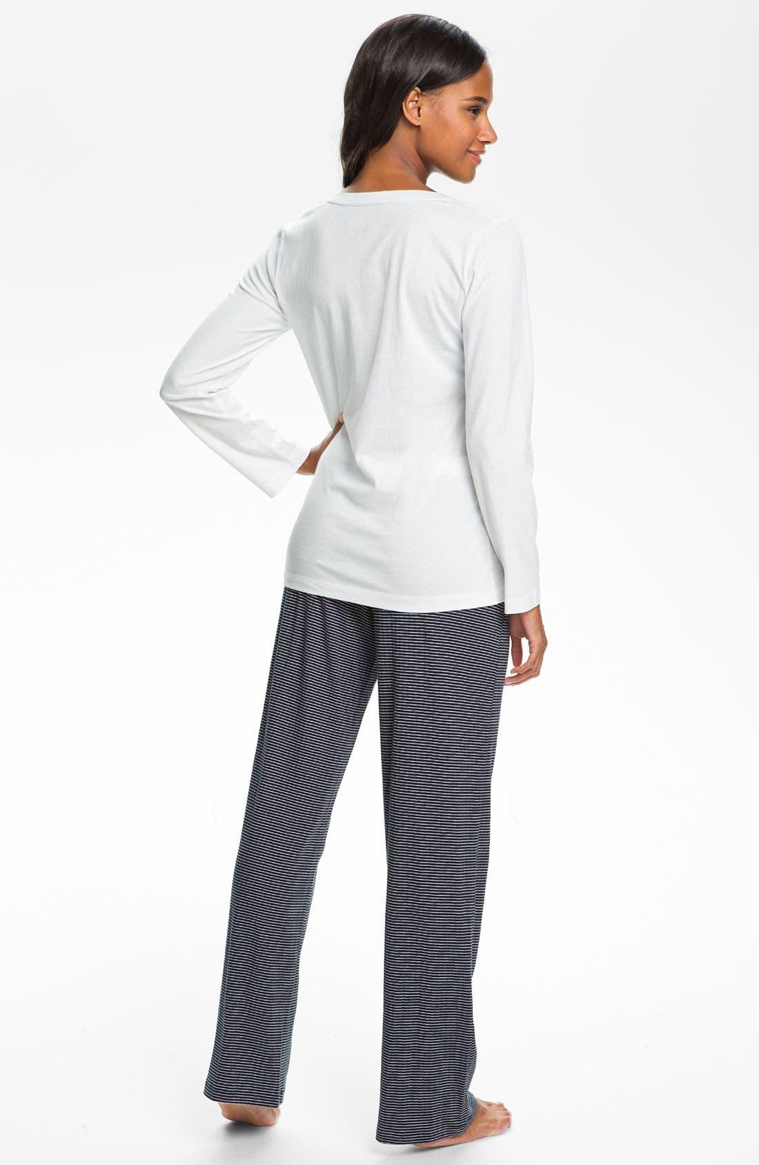 Alternate Image 5  - Lauren Ralph Lauren Sleepwear Long Sleeve Sleep Tee