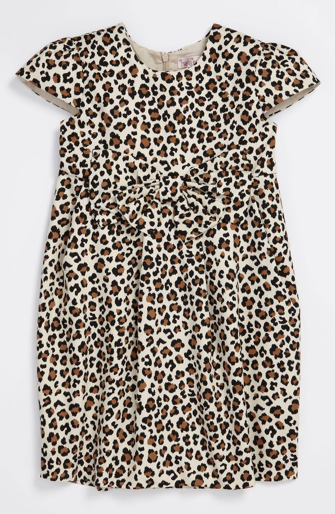 Alternate Image 1 Selected - Halabaloo Leopard Print Dress (Little Girls & Big Girls)