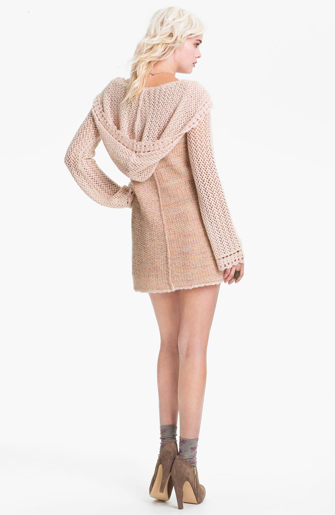 Alternate Image 2  - Free People Crochet Pullover Hoodie
