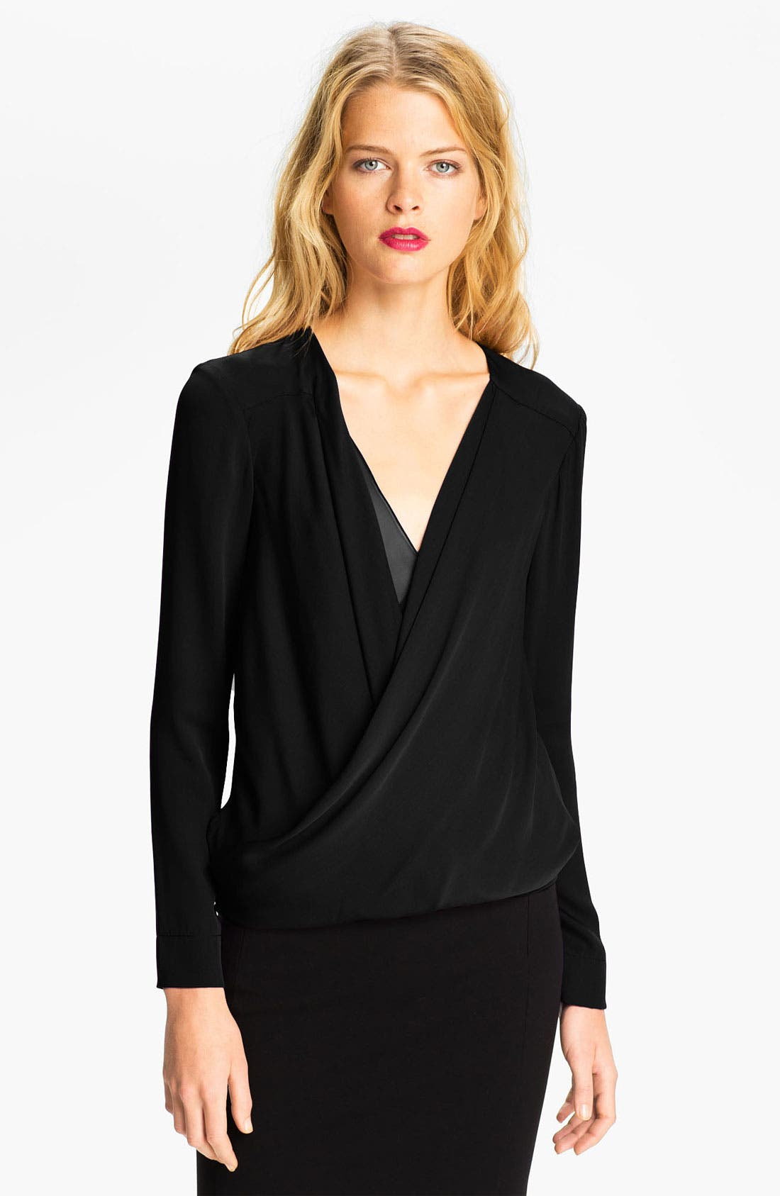 Alternate Image 1 Selected - Diane von Furstenberg 'New Issie' Silk Blouse