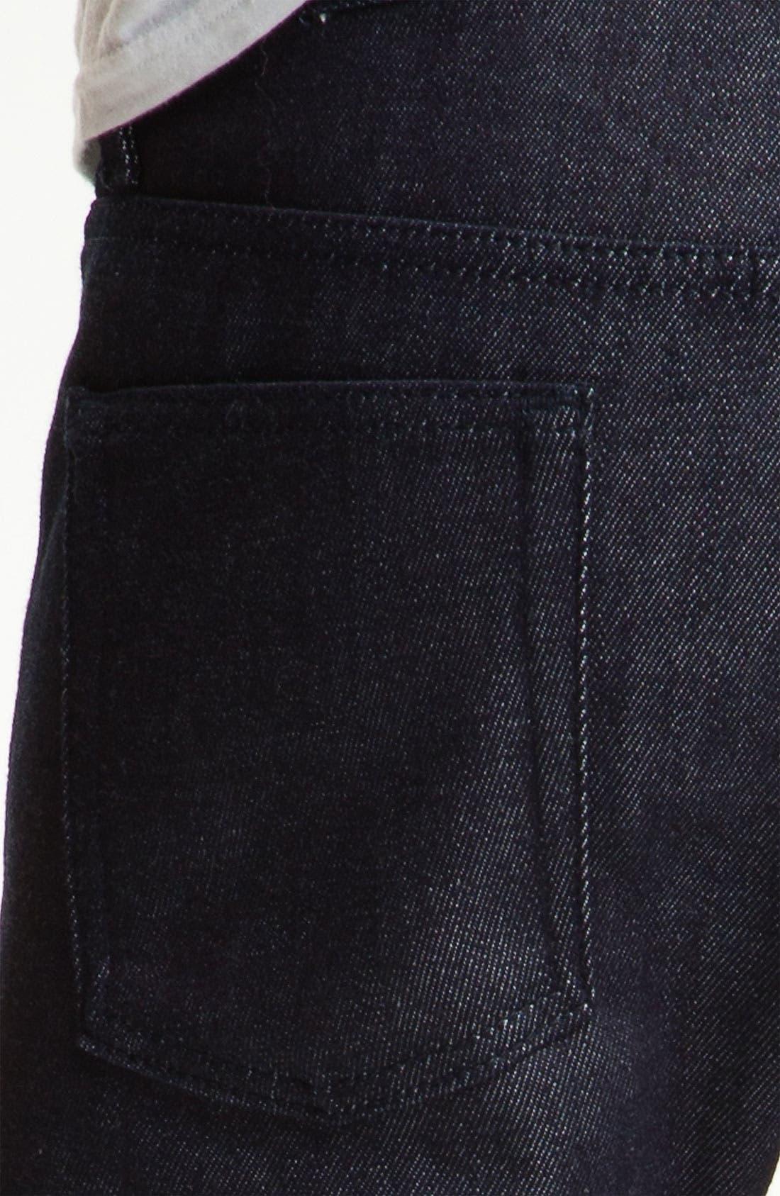 Alternate Image 4  - Naked & Famous Denim 'Weird Guy' Slim Straight Leg Selvedge Jeans (Indigo)