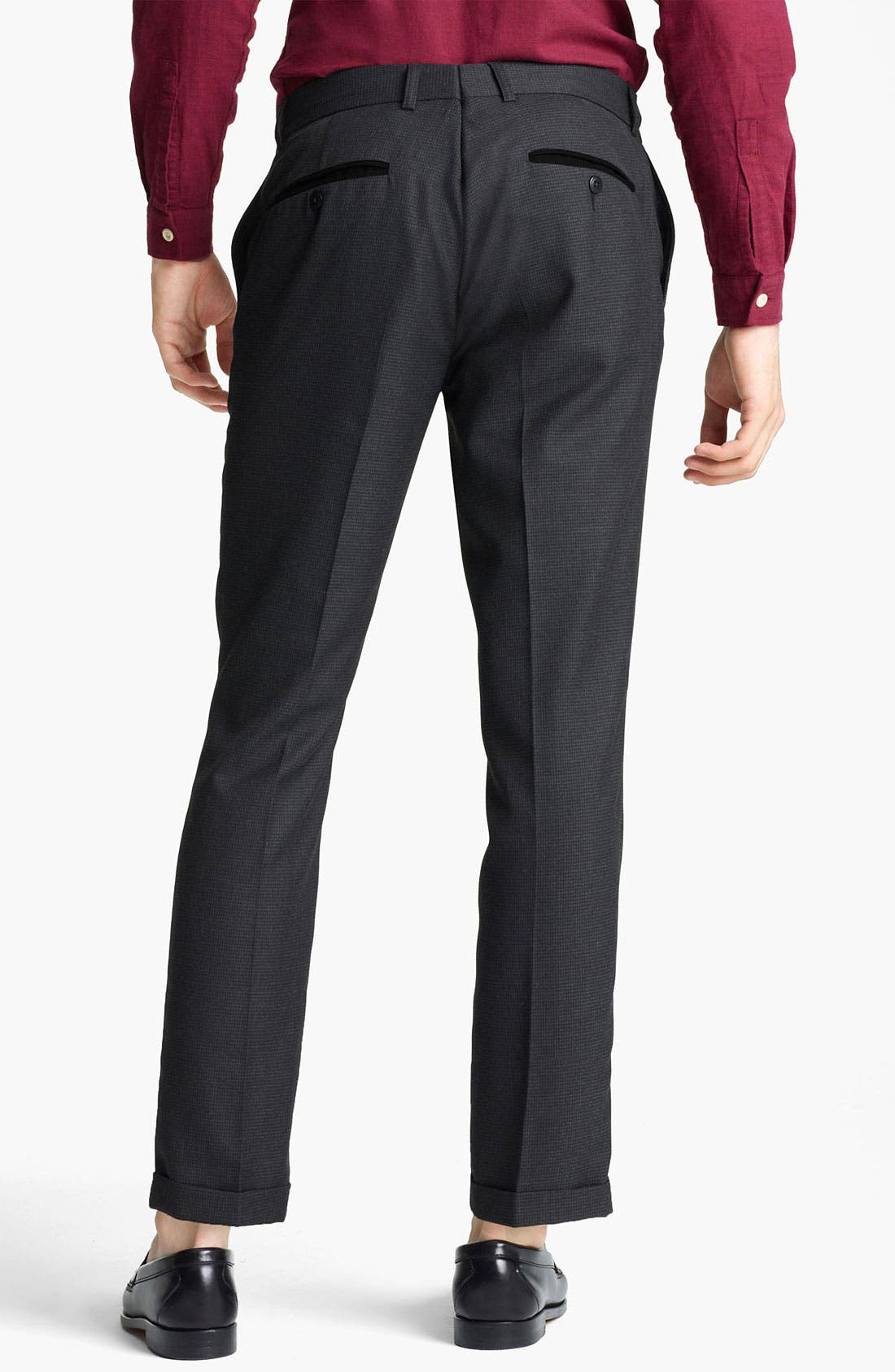 Alternate Image 2  - Topman Houndstooth Skinny Trousers
