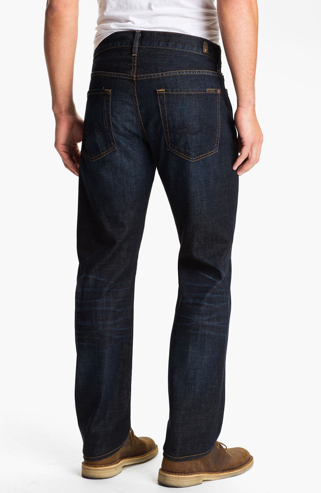 Main Image - 7 For All Mankind® 'Standard' Straight Leg Jeans (Porterville)