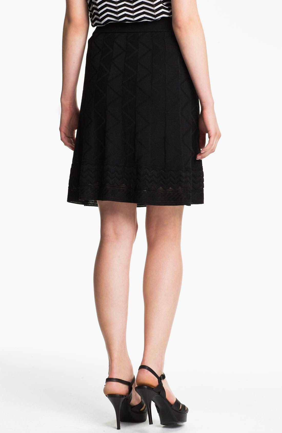 Alternate Image 2  - M Missoni Tonal Zigzag Skirt