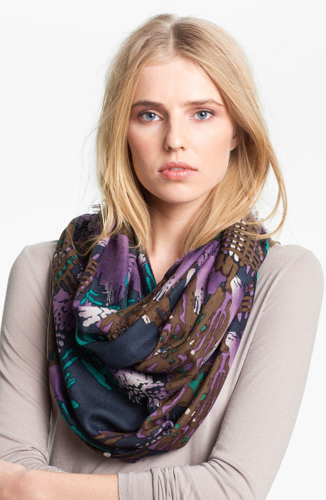 Alternate Image 1 Selected - Hinge® 'Etched Houndstooth' Wool Infinity Scarf