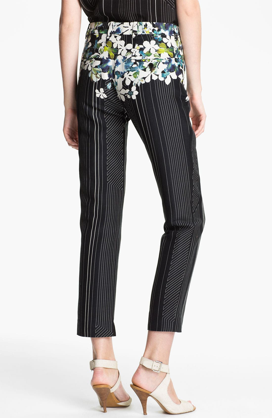 Alternate Image 2  - 3.1 Phillip Lim Floral Print Flat Front Trousers