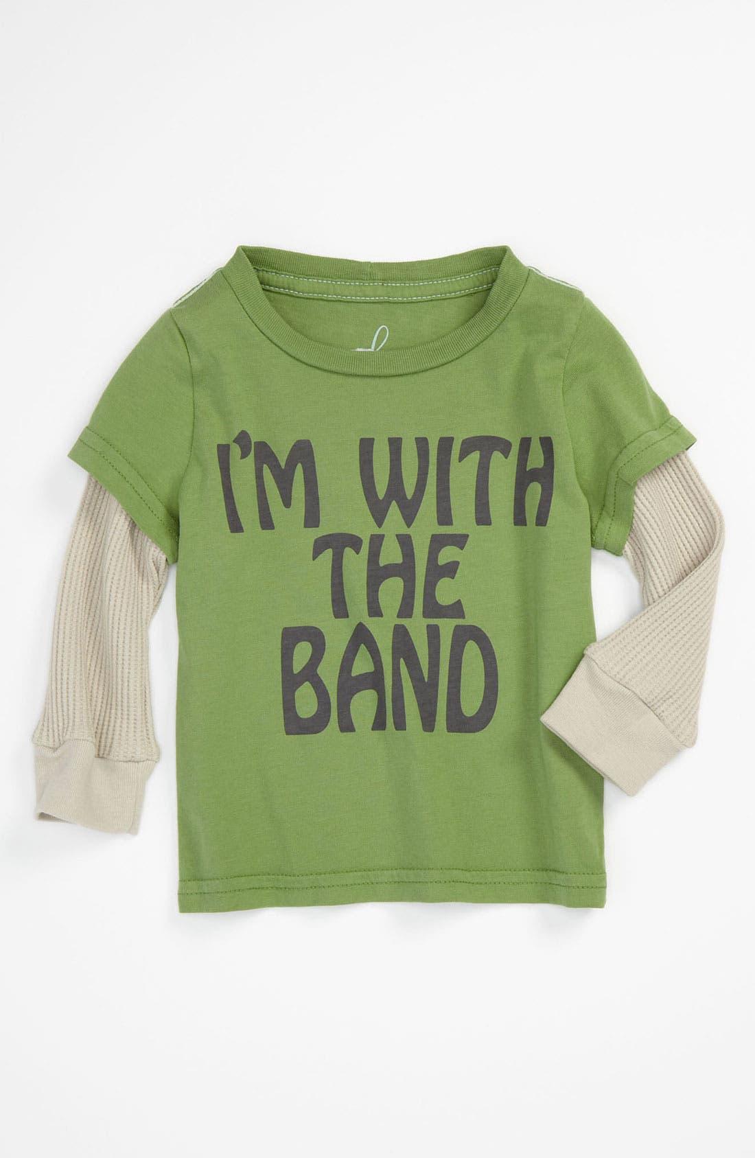 Main Image - Peek 'I'm With The Band' Tee (Infant)