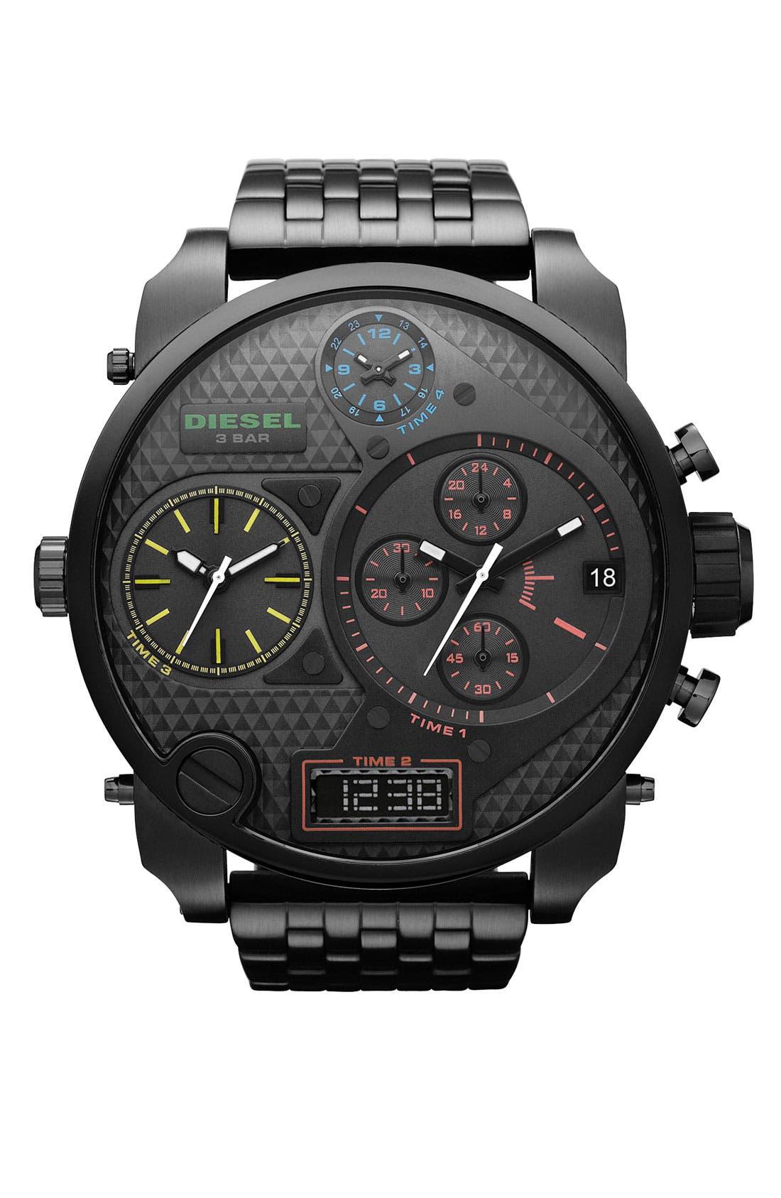 Main Image - DIESEL® 'Mr. Daddy' Bracelet Watch, 58mm