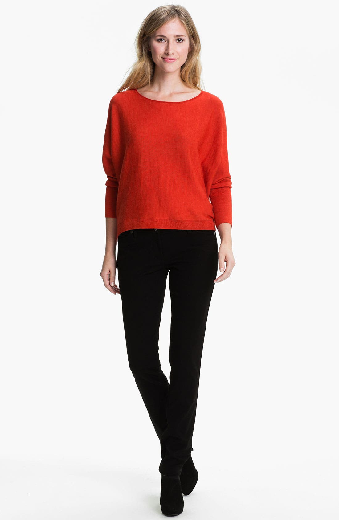 Alternate Image 4  - Eileen Fisher 'Rock Star' Stretch Ponte Jeans (Regular & Petite)