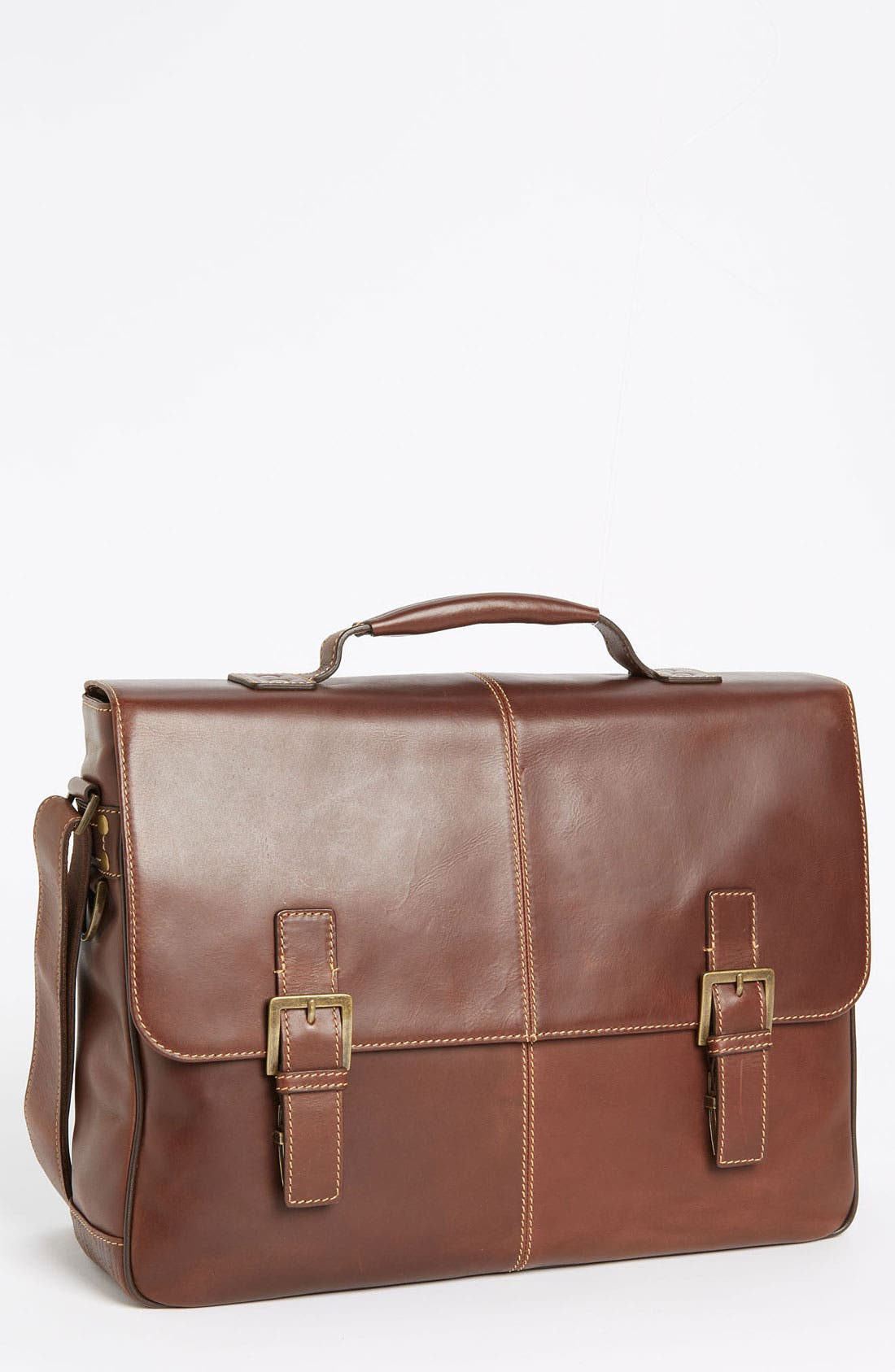 'Bryant' Leather Briefcase,                             Main thumbnail 1, color,                             Antique Mahogany