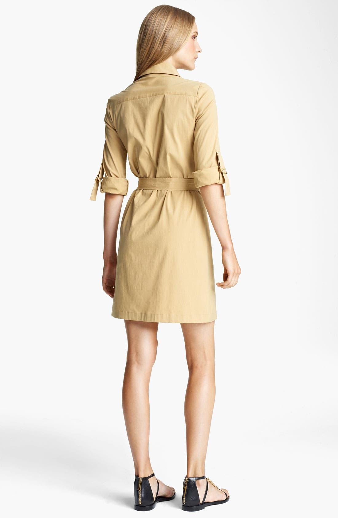 Alternate Image 2  - Michael Kors Stretch Poplin Shirtdress
