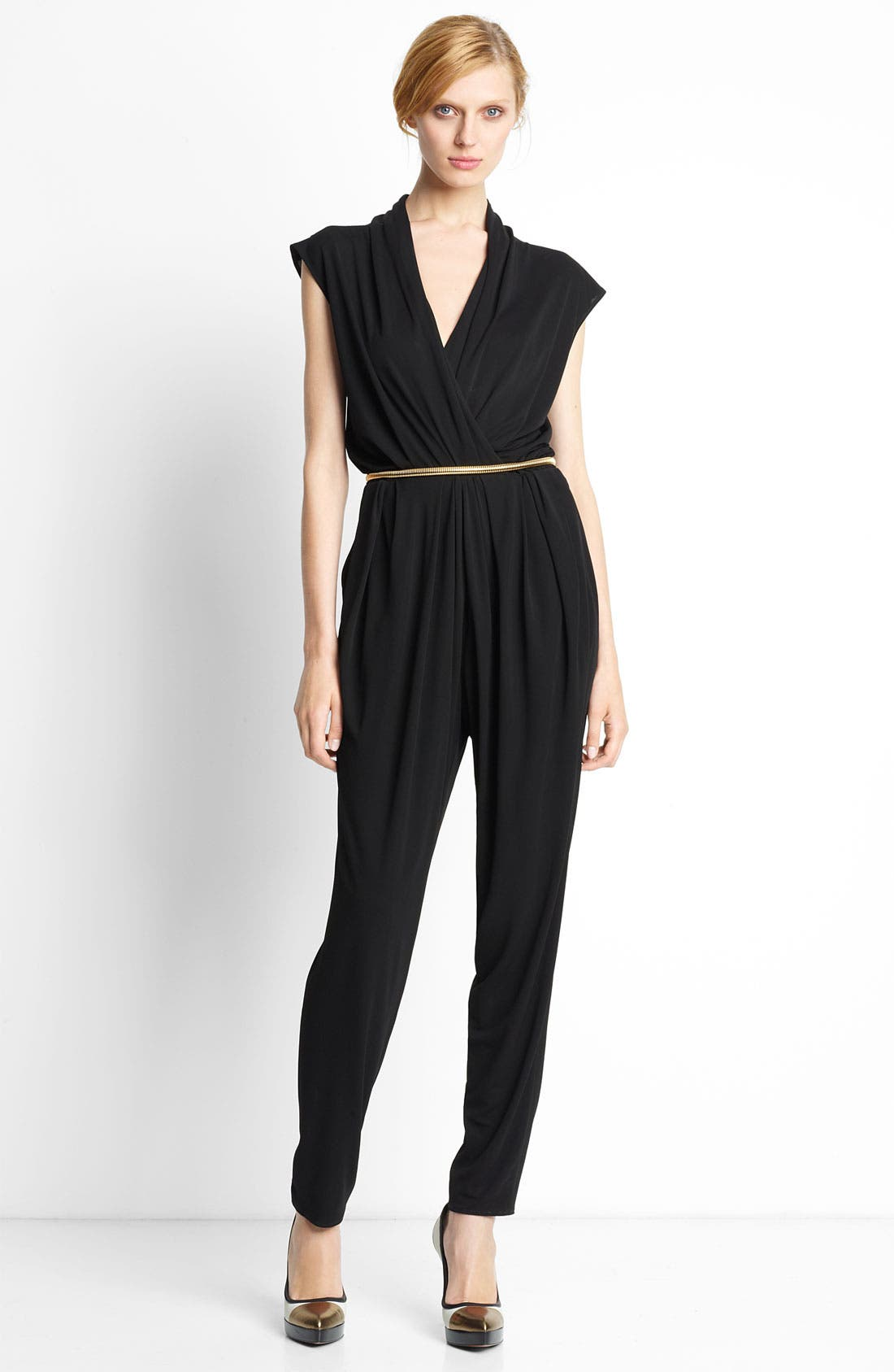 Alternate Image 1 Selected - Lanvin Sleeveless Jersey Jumpsuit