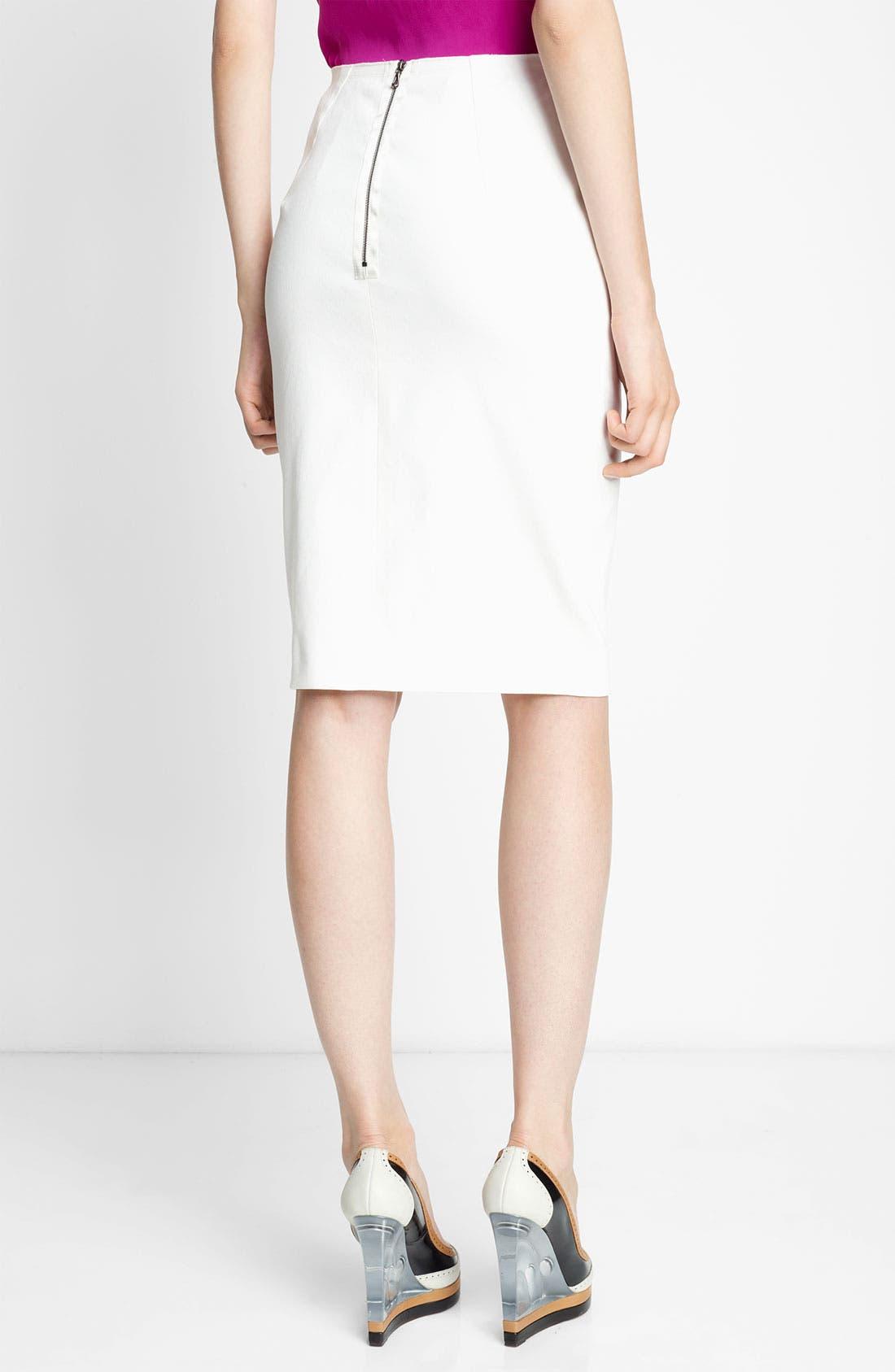 Alternate Image 2  - Lanvin Piqué Pencil Skirt