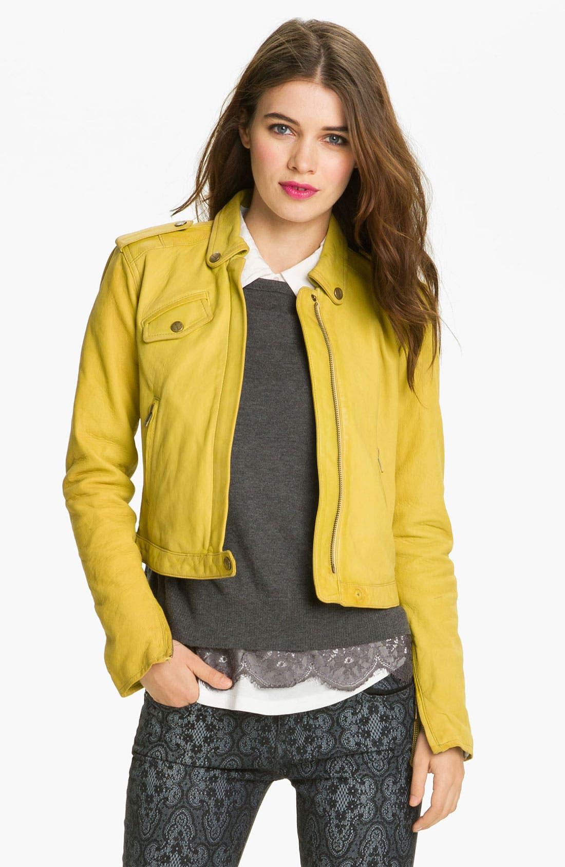 Alternate Image 1 Selected - Current/Elliott Leather Moto Jacket