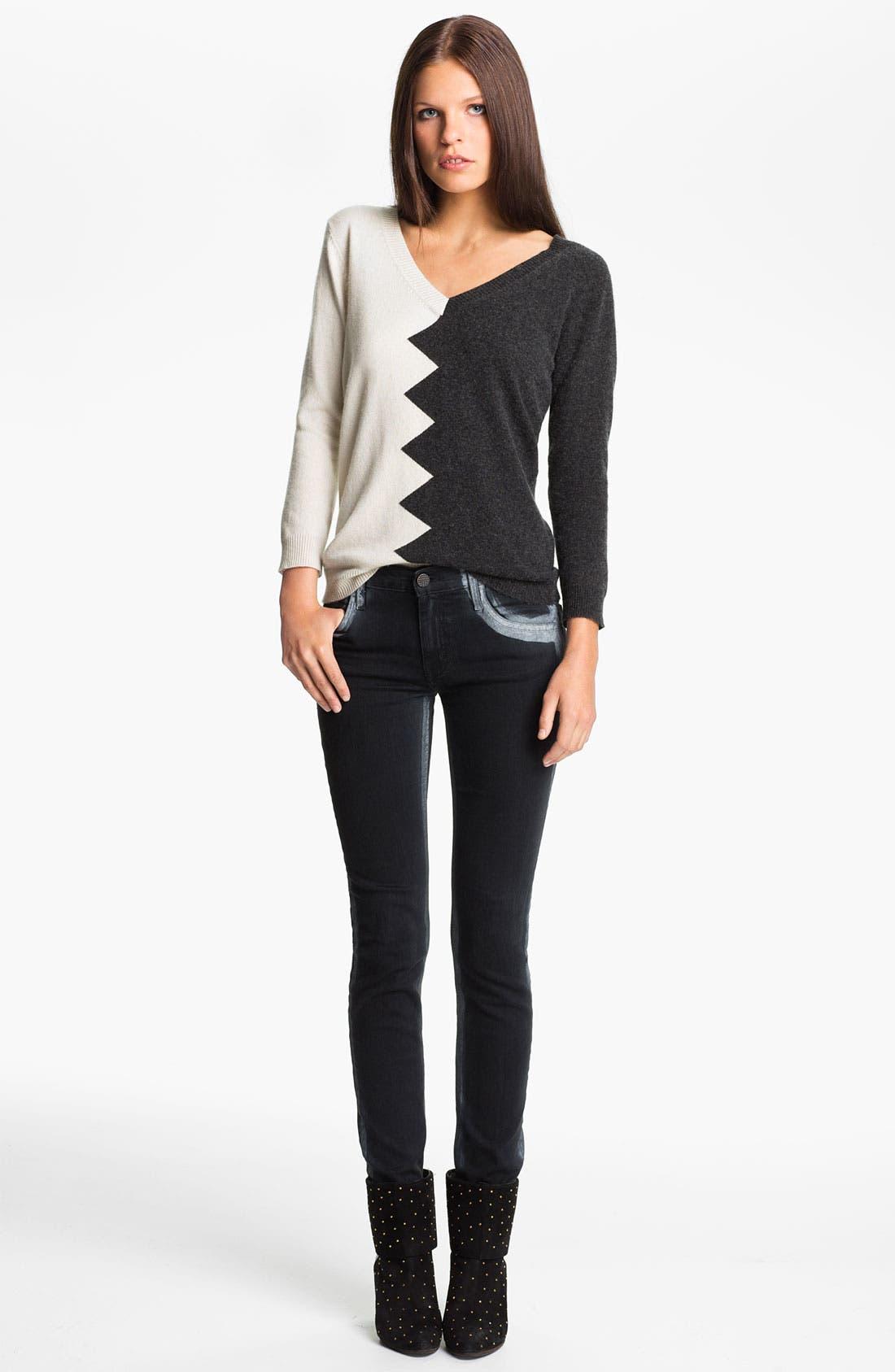 Main Image - Kelly Wearstler 'Zigzag Slither' V-Neck Pullover