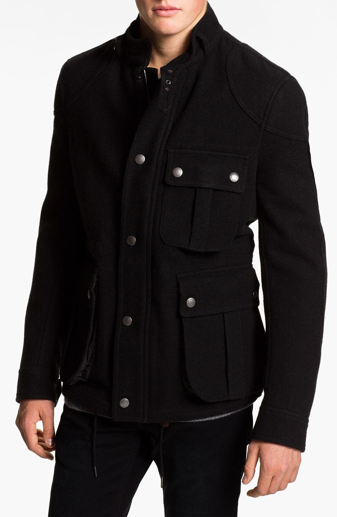 Main Image - Burberry Brit Wool Blend Field Jacket
