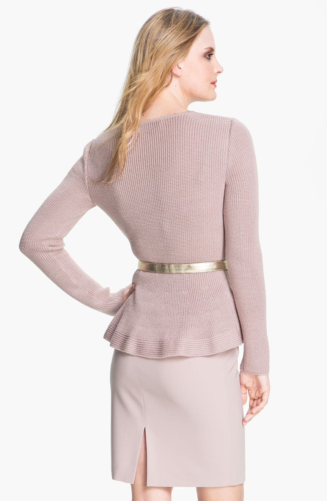 Alternate Image 3  - St. John Collection Crewneck Peplum Sweater