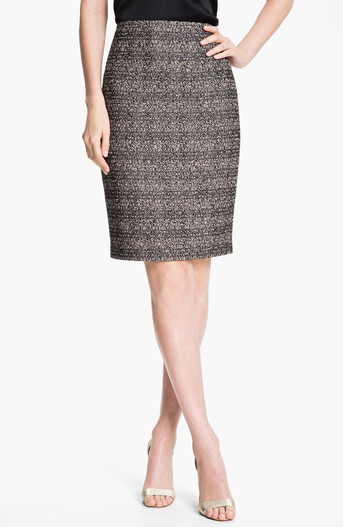 Alternate Image 2  - St. John Collection Graphic Tweed Pencil Skirt