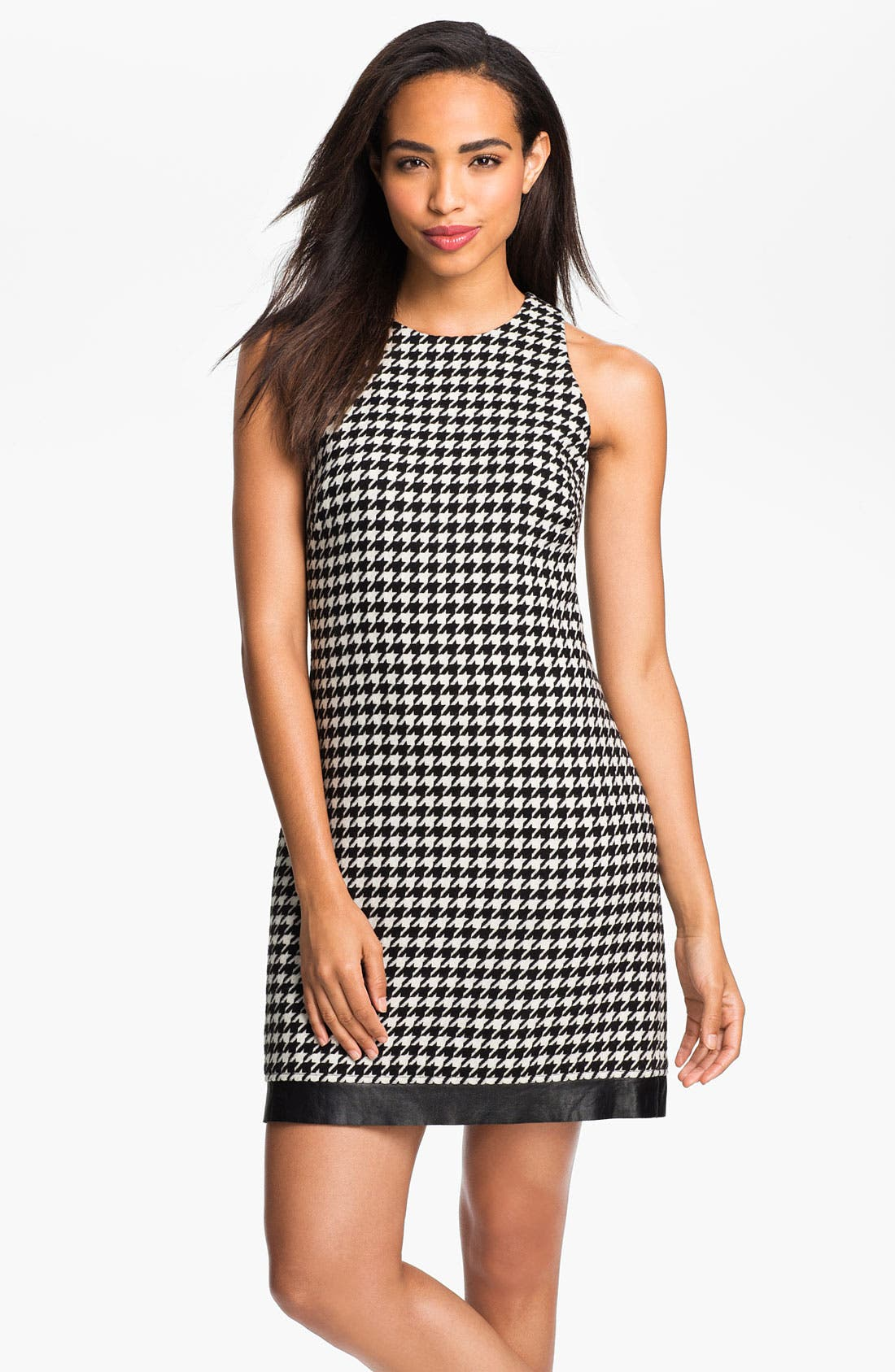 Main Image - ABS by Allen Schwartz Houndstooth Bouclé Shift Dress
