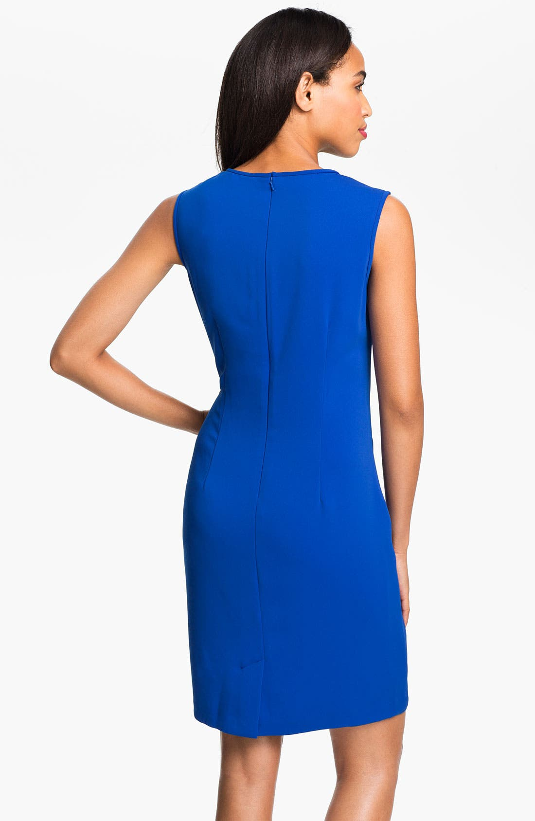 Alternate Image 2  - Donna Ricco Pleat Bodice Sheath Dress