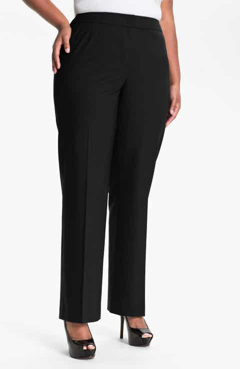 Lafayette 148 New York 'Menswear' Trousers (Plus Size)