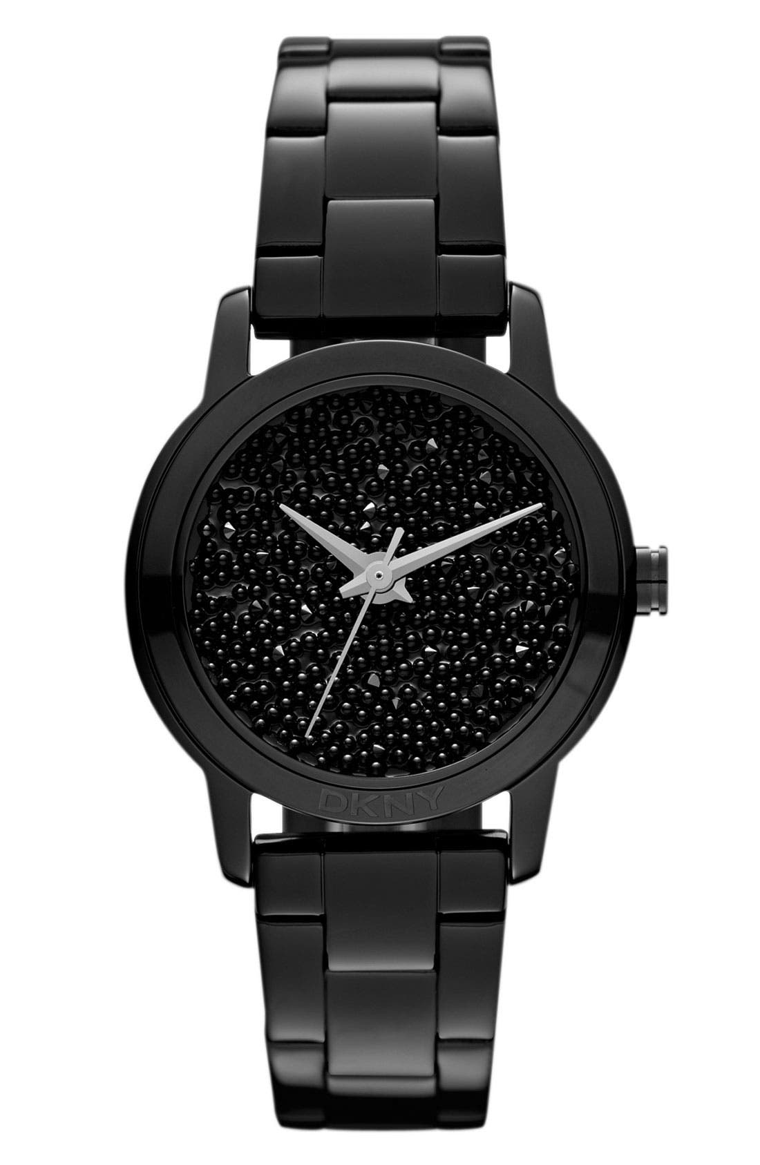 Alternate Image 1 Selected - DKNY Pebble Crystal Dial Watch, 32mm