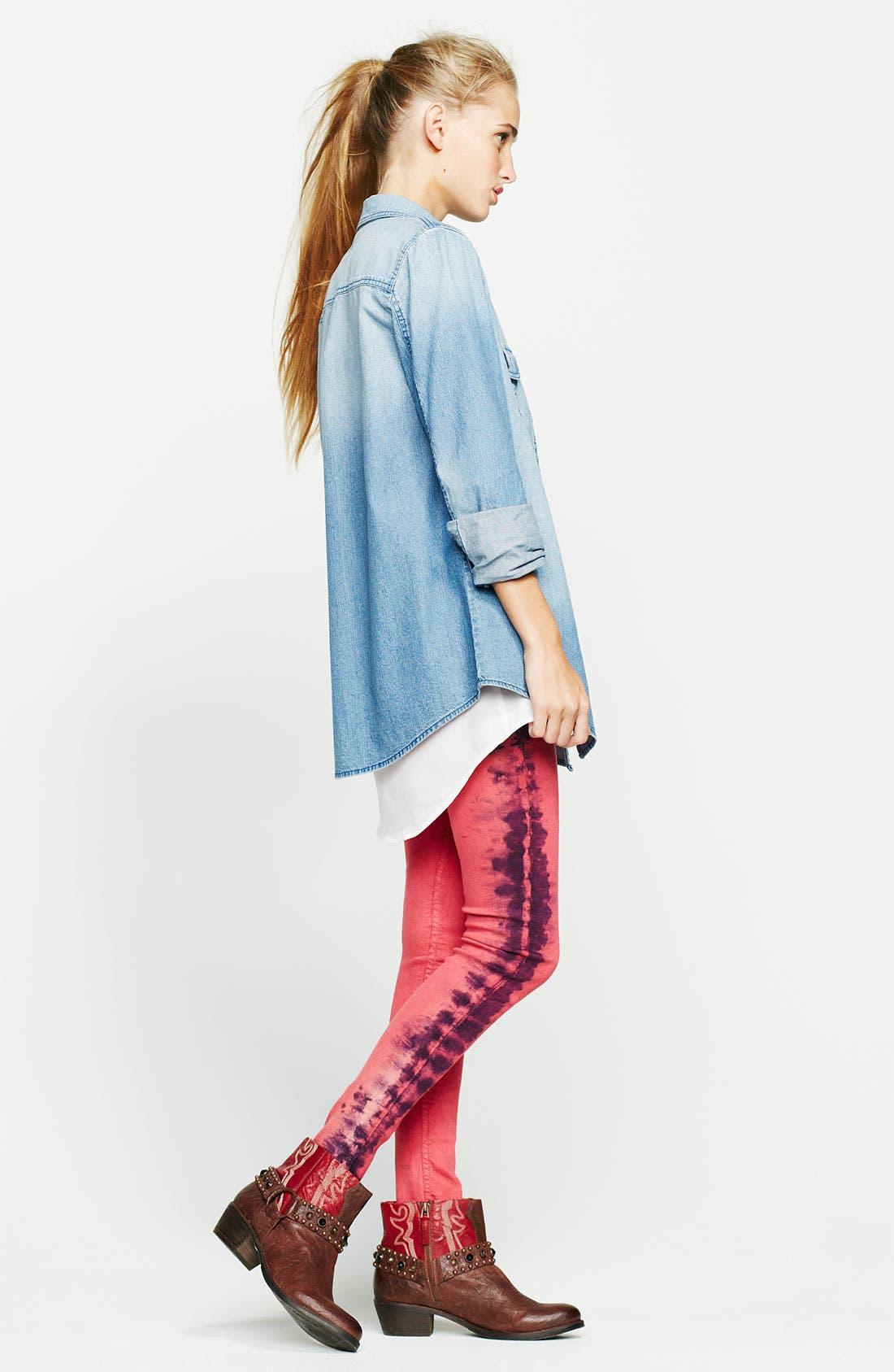Alternate Image 5  - See Thru Soul Tie Dye Skinny Jeans (Juniors)