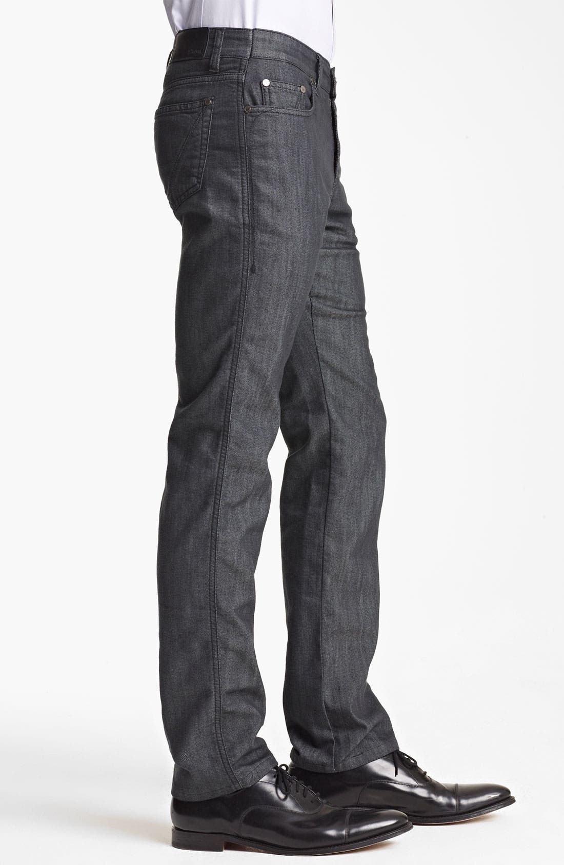 Alternate Image 3  - Z Zegna Straight Leg Jeans (Blue)