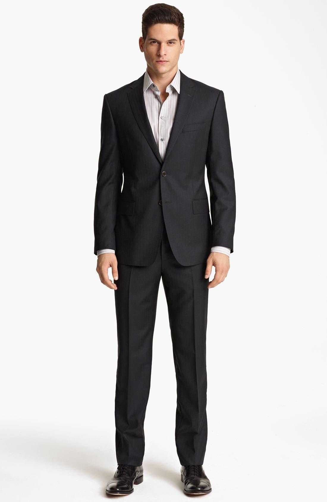 Alternate Image 2  - Versace Trim Fit Stripe Suit
