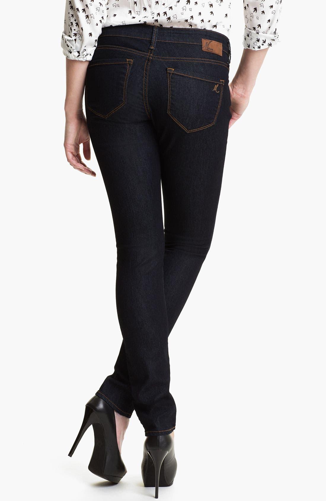 Alternate Image 2  - Mavi Jeans 'Alexa' Mid Rise Super Skinny Jeans (Rinse Super)