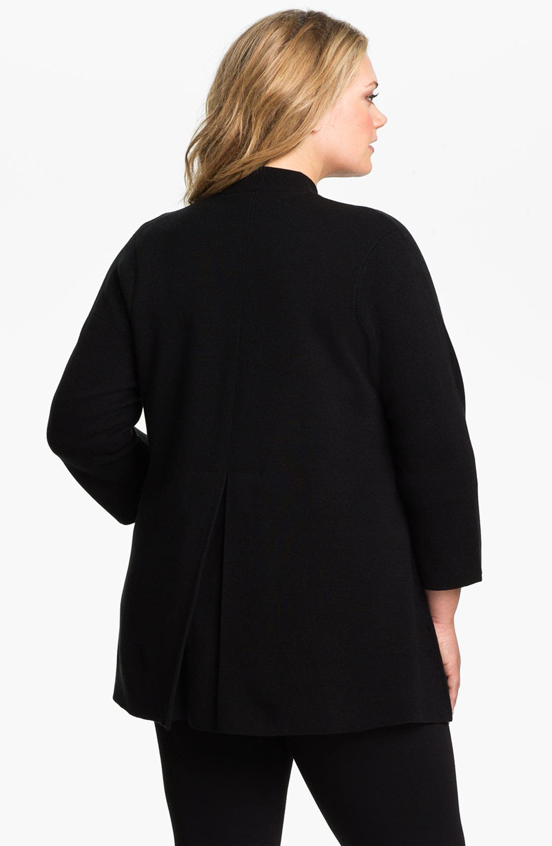 Alternate Image 2  - Eileen Fisher Silk Blend Knit Jacket (Plus)