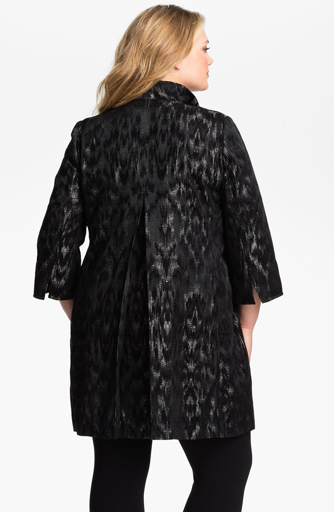 Alternate Image 2  - Eileen Fisher Open Front Three Quarter Sleeve Coat (Plus)