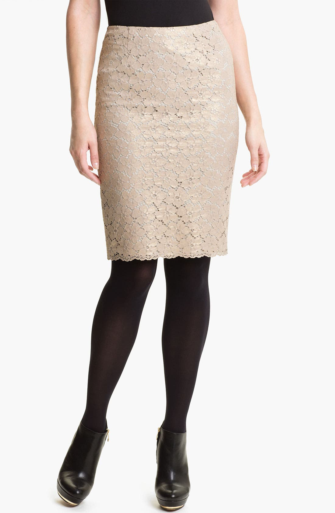 Main Image - Vince Camuto Lace Pencil Skirt