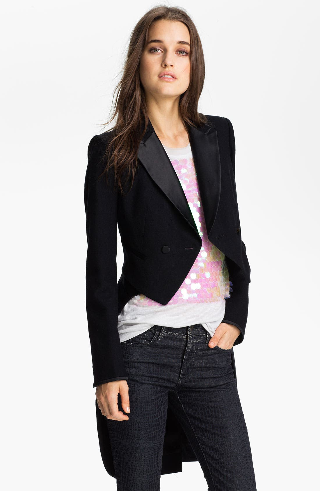 Main Image - Juicy Couture Convertible Tuxedo Tail Jacket