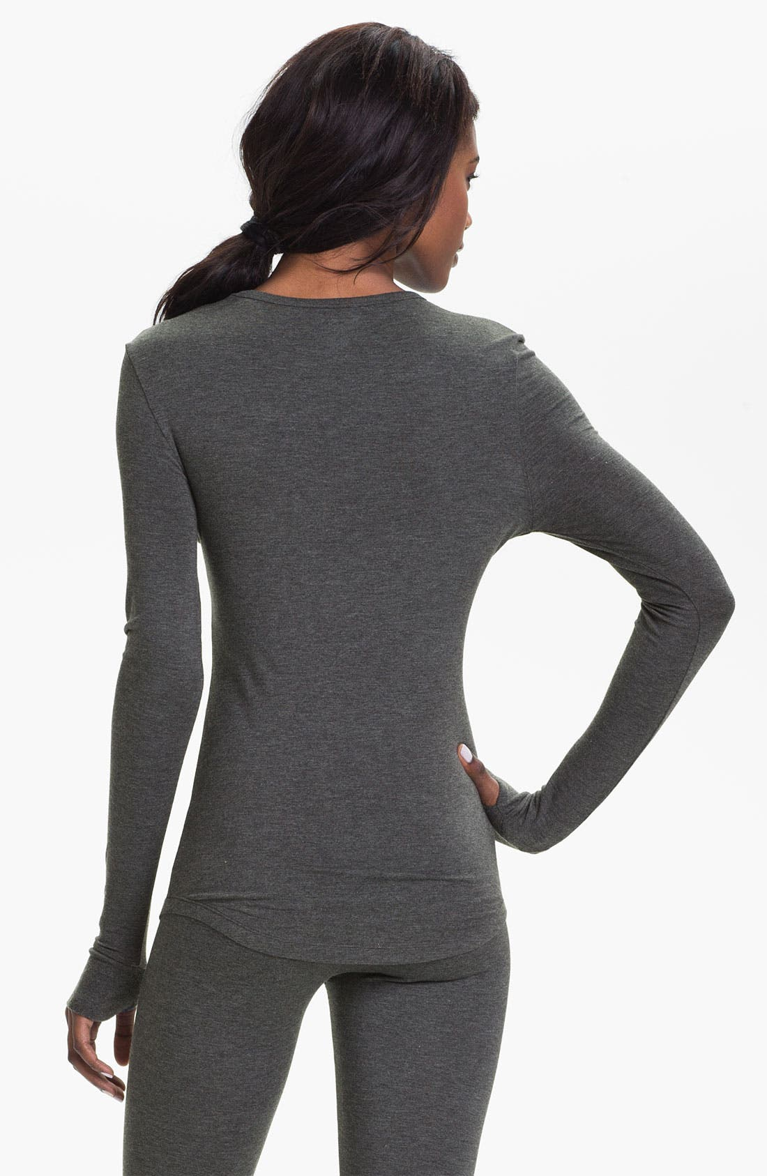 Alternate Image 2  - DKNY Base Layer Crewneck Tee