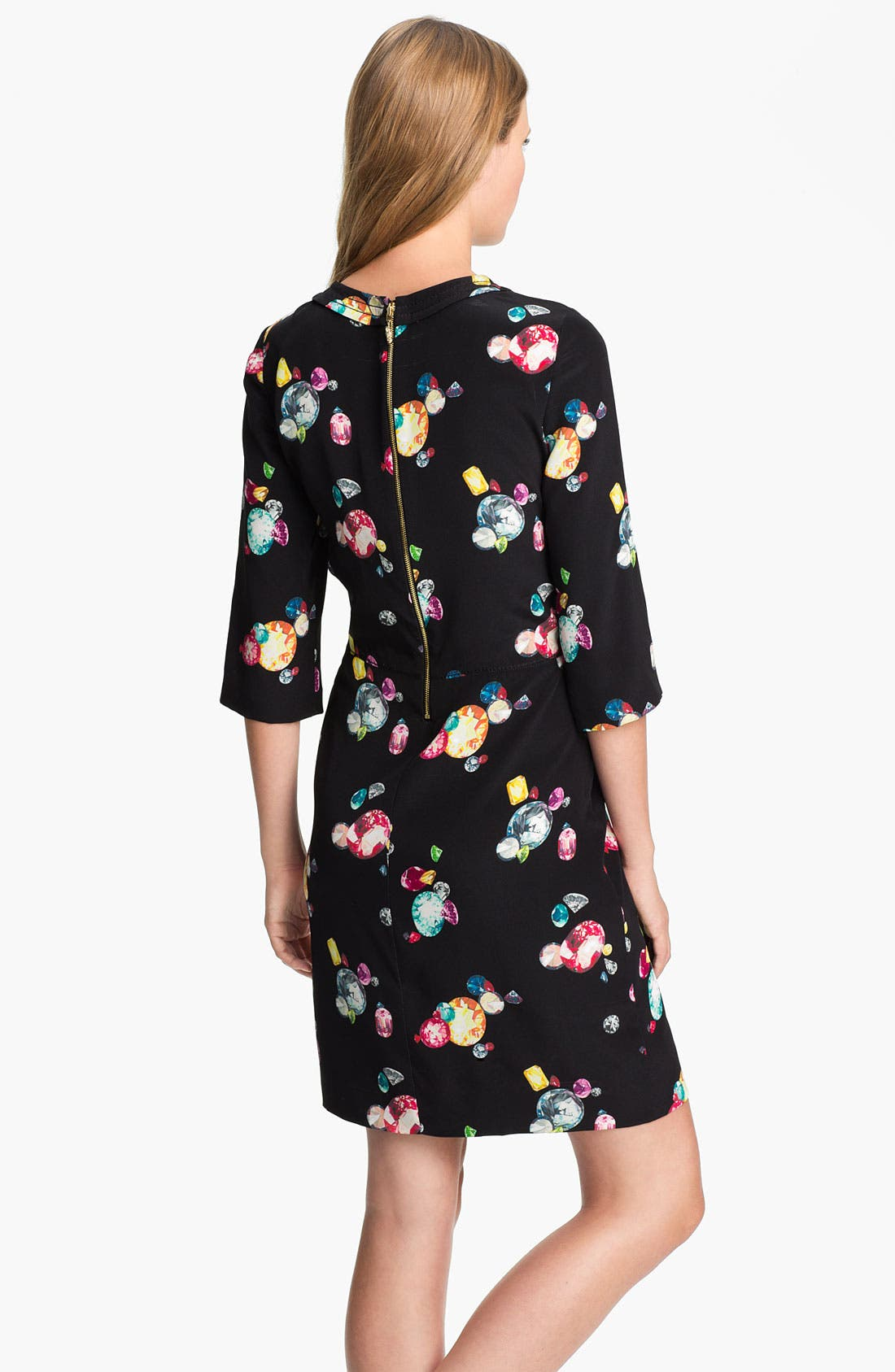 Alternate Image 2  - kate spade new york 'amber' silk sheath dress