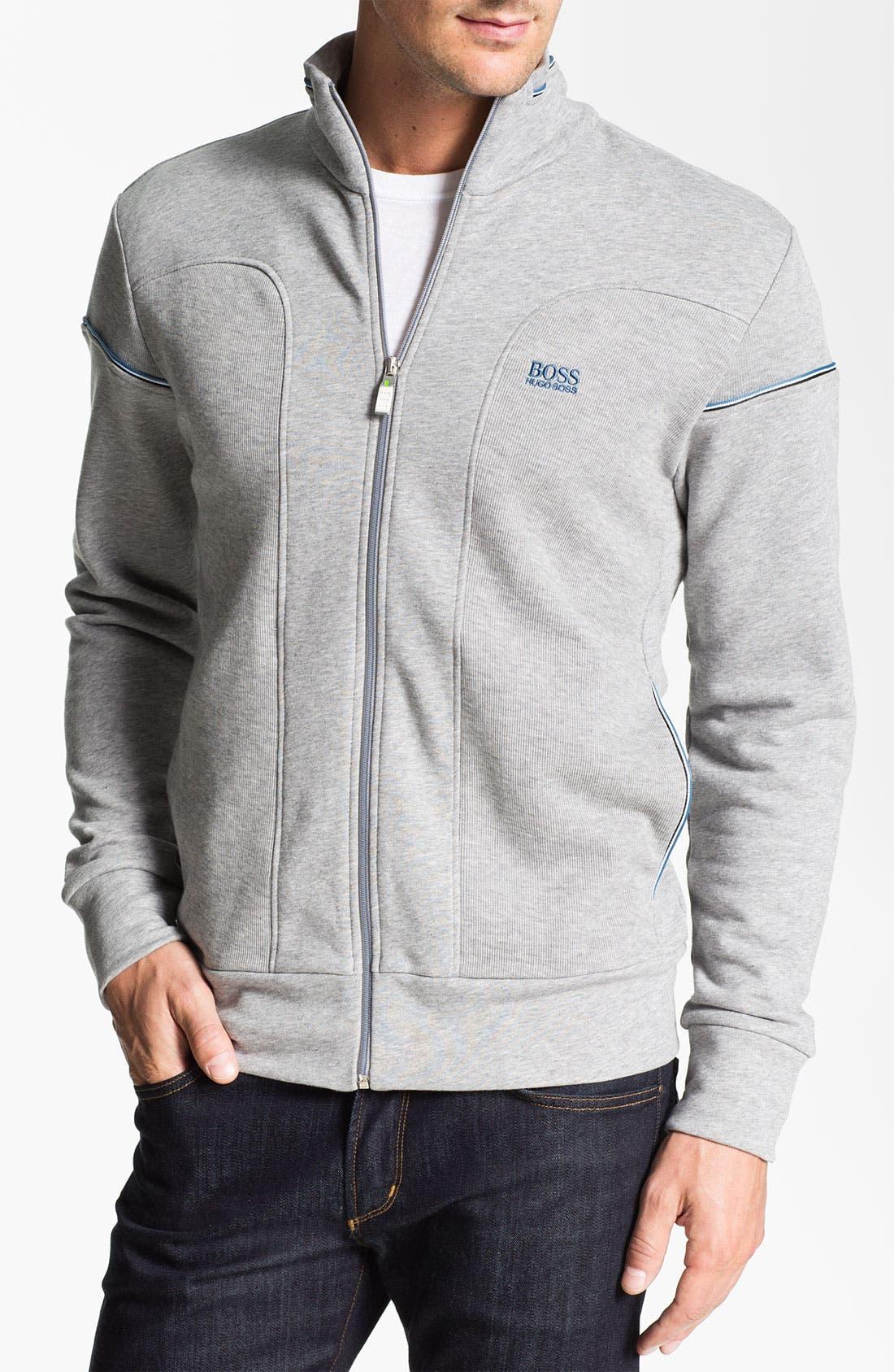 Main Image - BOSS Green 'Skaz' Zip Sweatshirt
