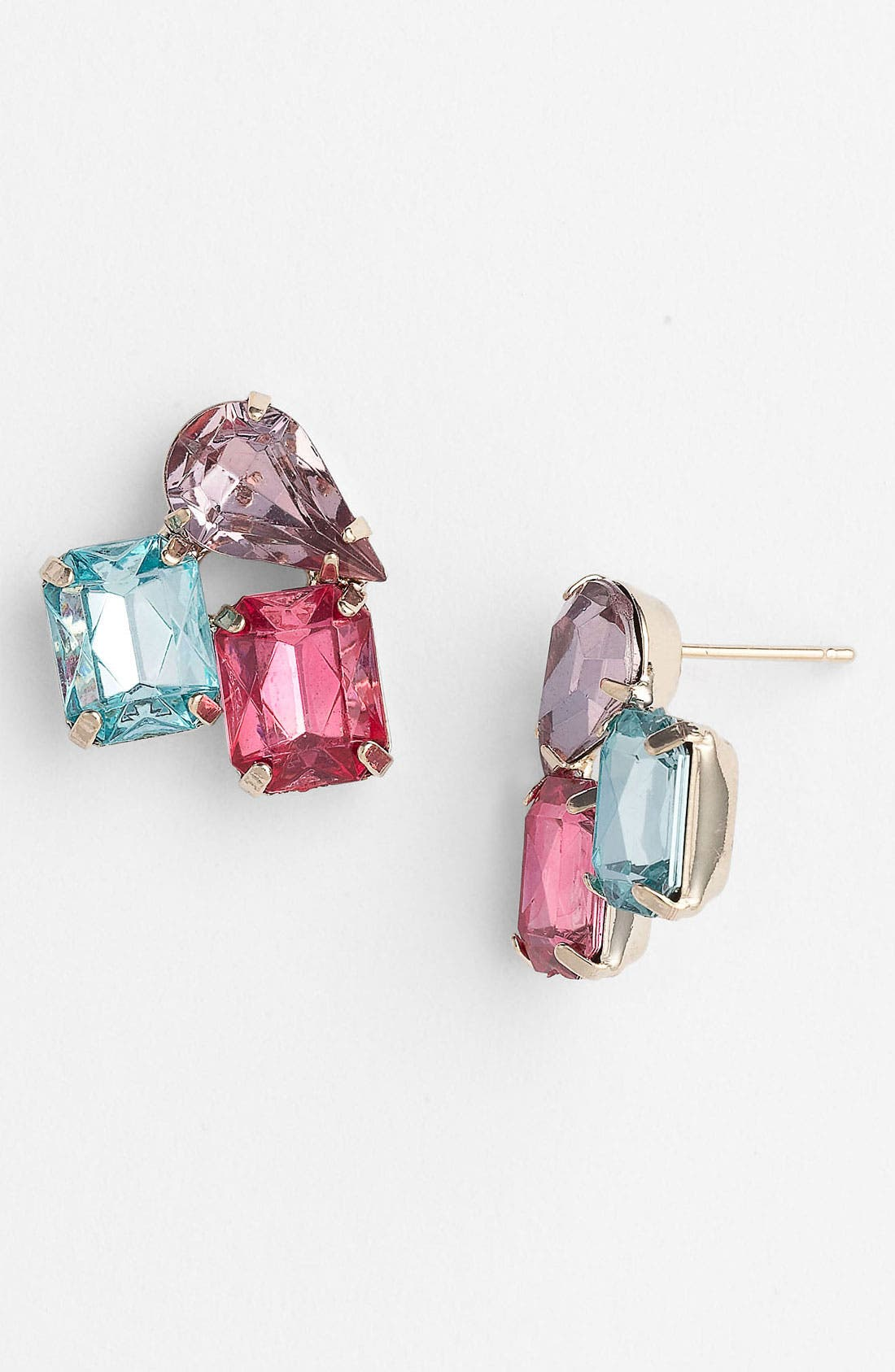 Alternate Image 1 Selected - Rachel Multi Stone Stud Earrings