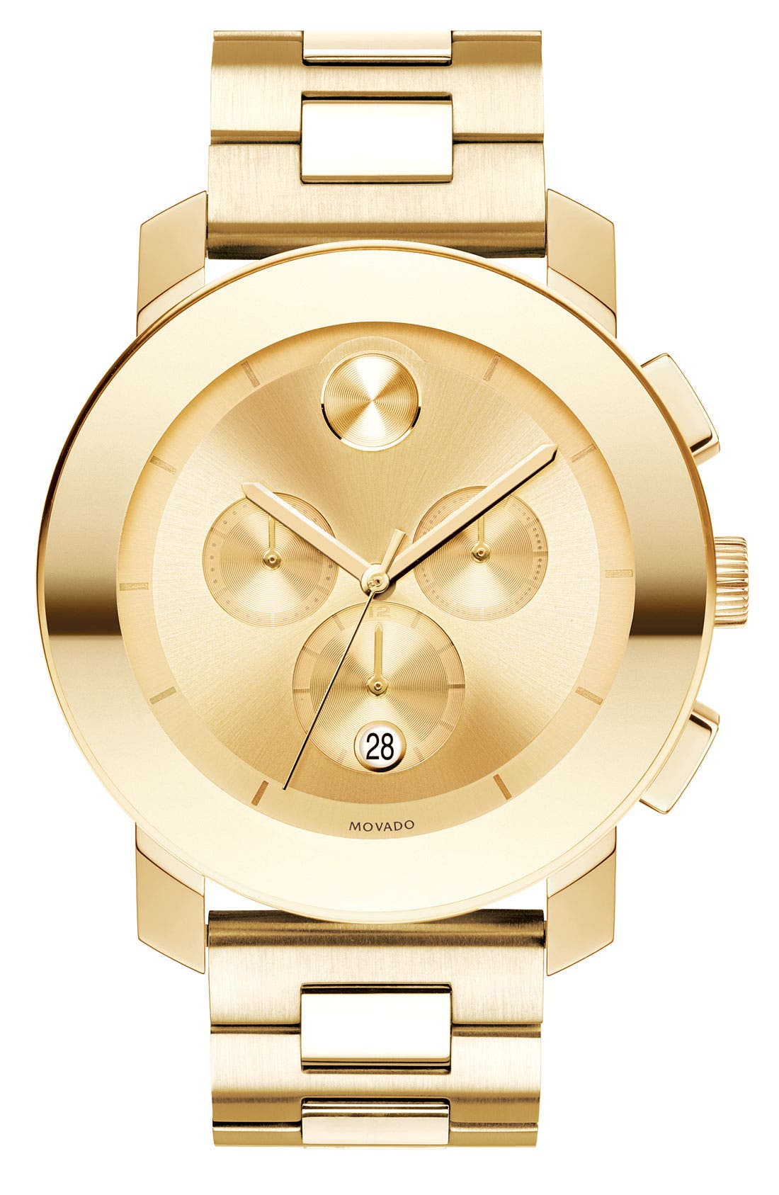 Alternate Image 1 Selected - Movado 'Large Bold Chronograph' Bracelet Watch, 43mm