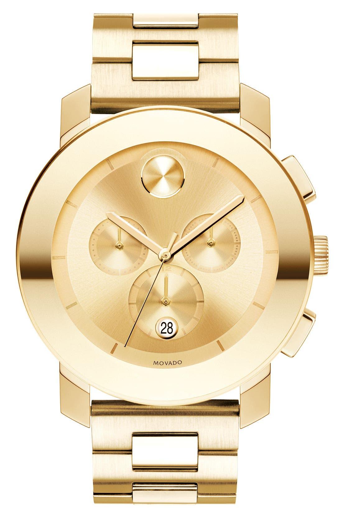 Main Image - Movado 'Large Bold Chronograph' Bracelet Watch, 43mm