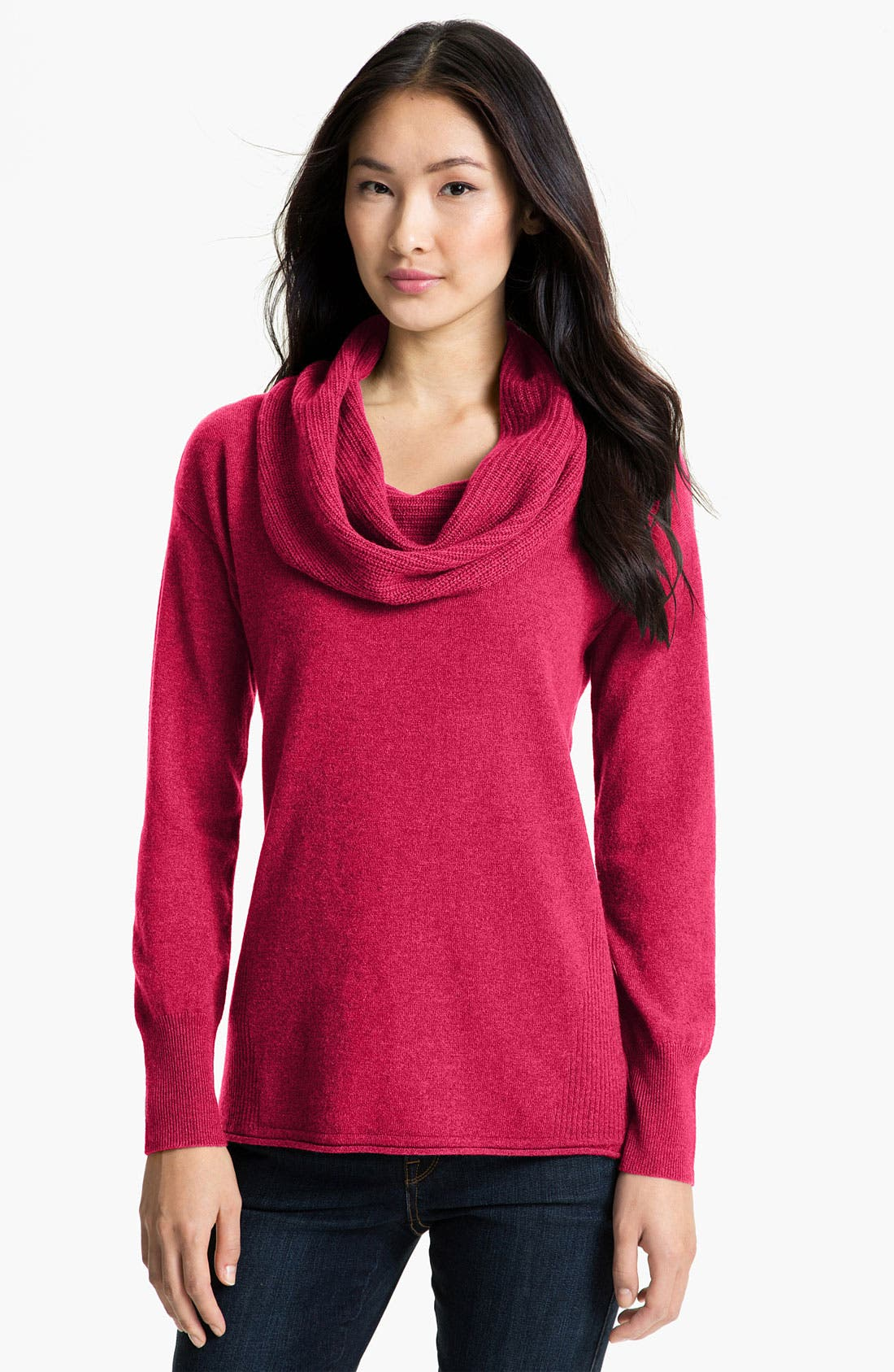 Alternate Image 1 Selected - Nordstrom Collection Cowl Neck Cashmere Sweater