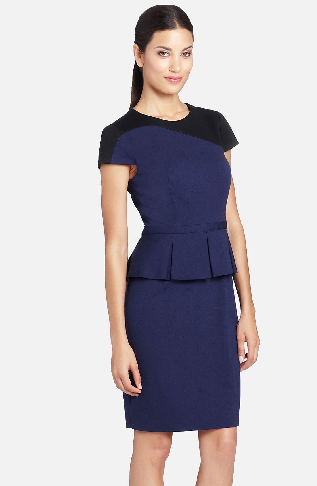 Alternate Image 1 Selected - Cynthia Steffe Colorblock Peplum Dress