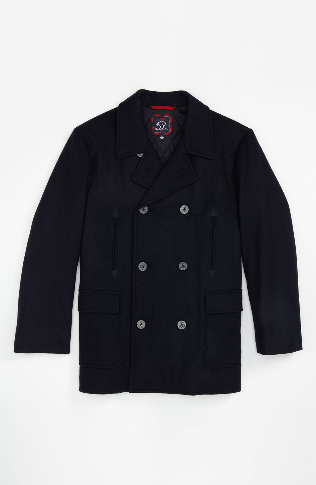 Alternate Image 1 Selected - Brooks Brothers 'Melton' Peacoat (Big Boys)