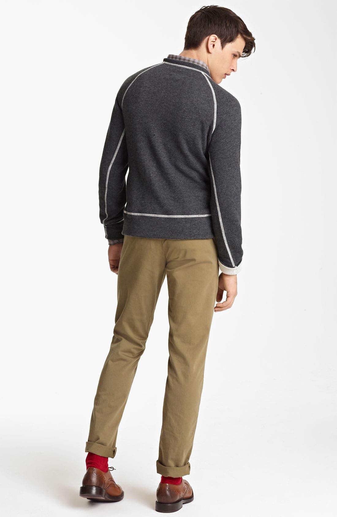 Alternate Image 5  - Billy Reid Raglan Crewneck Sweatshirt