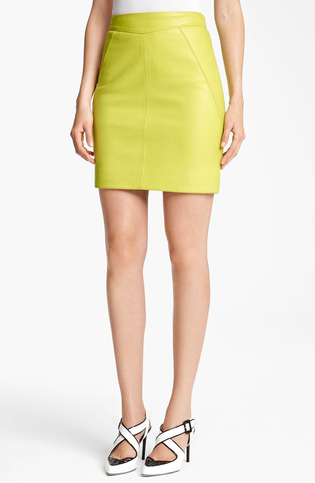 Alternate Image 1 Selected - Jason Wu Nappa Leather Pencil Skirt