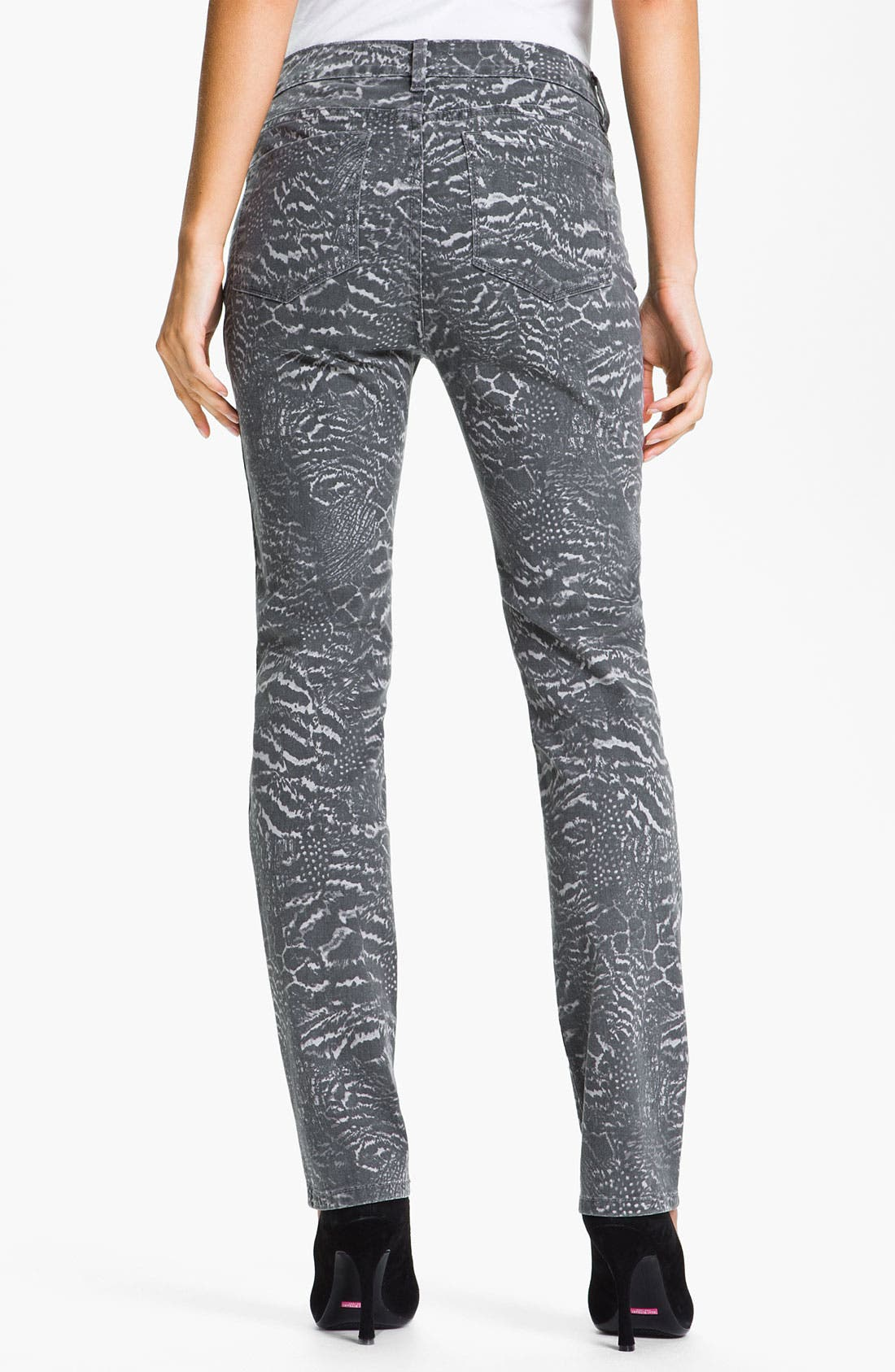 Alternate Image 2  - NYDJ 'Sheri - Nature Collage' Print Skinny Twill Jeans
